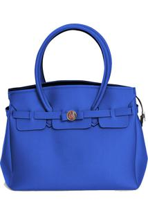 Bolsa Neoprene Truzz Firenze Grande Azul - Azul - Feminino - Dafiti