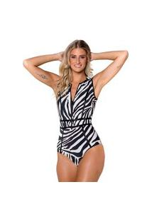 Maiô Kalini Beachwear Manga Curta Stylish Exotic