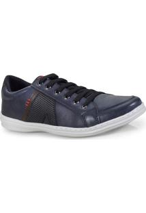 Sapatenis Masc Ped Shoes 14003-C Azul/Cafe