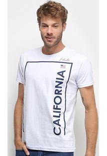 Camiseta Industrie Básica Manga Curta Masculina - Masculino-Branco