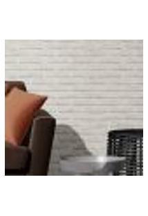 Papel De Parede Adesivo Autocolante Tijolinhos Branco E Cinza