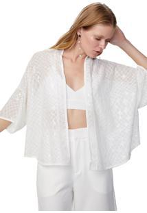Kimono Paete Off White - Pp