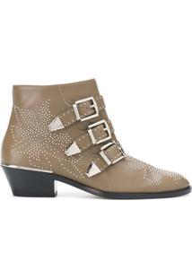 Chloé Ankle Boot 'Susanna' De Couro - Marrom