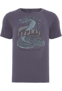 Camiseta Masculina Snake - Cinza
