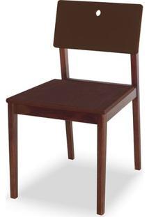 Cadeira Flip Cor Cacau Com Encosto Marrom - 31127 - Sun House