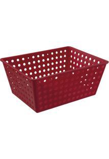 Cesta Organizadora One Maxi 39X30Cm Vermelha