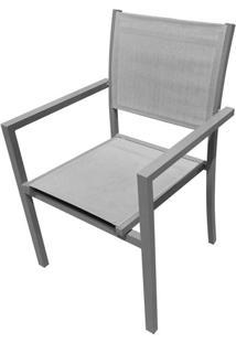 Cadeira Guaruja Cinza Tela Cinza 88 Cm (Alt) - 43498 - Sun House