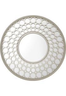 Espelho Royal Redondo De Parede Prata