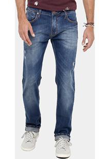 Calça Jeans Reta Colcci Alex Indigo Masculina - Masculino-Jeans
