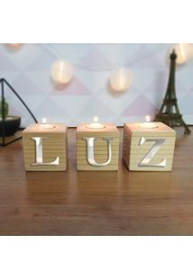 Cubo Decorativo Com Velas E Letras Em Acrílico Luz
