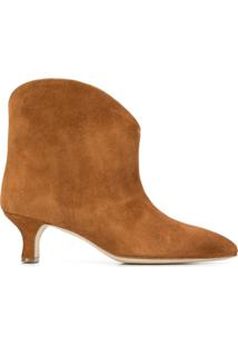Paris Texas Ankle Boot Com Salto - Marrom