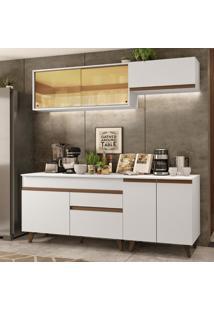 Cozinha Completa Madesa Reims 190001 Com Armário E Balcão - Branco Branco