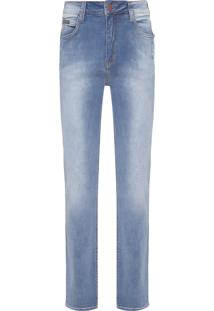 Calça Jeans Masculina Relaxed Straight - Azul