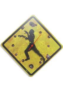 Relógio De Parede Zombie Geek10 - Amarelo