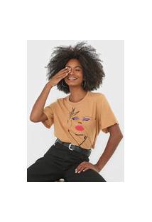 Camiseta Forum Bolso Bege