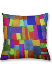 Capa De Almofada Decorativa Own Pintura Colorida 45X45 - Somente Capa