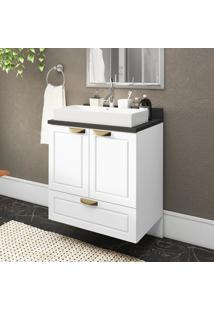 Gabinete / Balcã£O Banheiro Suspenso 2 Portas 1 Gavetã£O 100% Mdf Multimã³Veis Branco - Incolor - Dafiti