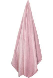 Cobertor Velour Neo Em Microfibra Casal- Rosa Claro-Camesa