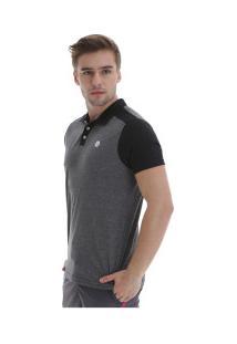 Camisa Polo Fatal Especial 18115 - Masculina - Cinza/Preto