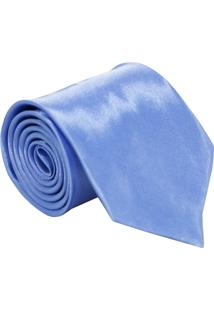 Gravata De Seda Lisa Unyforme Azul Claro