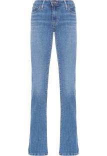 Calça Feminina Jeans Reta - Azul