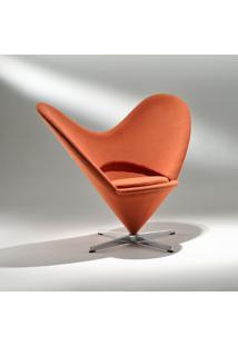 Poltrona Coração Base Em Alumínio Studio Mais Design By Verner Panton