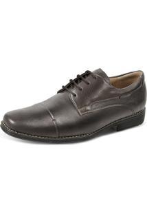 Sapato Social Derby Sandro Moscoloni Golden Shoes Marrom Escuro