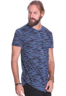Camiseta Manga Curta Vlcs 18543 Masculina - Masculino-Azul