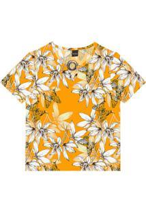 Blusa Feminina Estampa Floral Amarelo