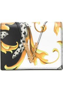 Versace Carteira Com Placa V - Preto