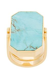 Julia Davidian Anel 'Turquoise' De Ouro - Verde