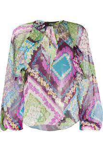 Dsquared2 Blusa De Seda Com Estampa Floral - Verde