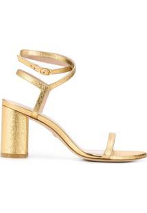 Stuart Weitzman Sandália Com Tiras Cruzadas - Dourado