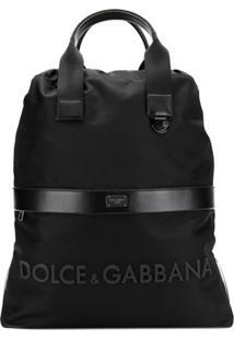 Dolce & Gabbana Mochila Street Com Logo - Preto