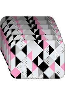 Jogo Americano - Love Decor Triângulos Kit Com 6 Peças
