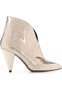 Isabel Marant Ankle Boot Archenn - Dourado