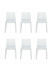 Conjunto De 6 Cadeiras Gruv Branca