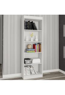 Estante Para Livros Sapiranga 4 Prateleiras Branco Fosco - Atualle Móveis