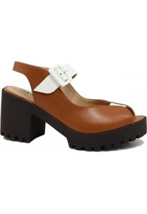 Sandália Zariff Shoes Salto Grosso Casual