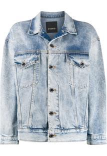 Pinko Jaqueta Jeans Com Efeito Desbotado - Azul