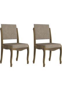 Jogo De 2 Cadeiras Ônix Ii Amadeirado Com Pena Caramelo Rv Móveis