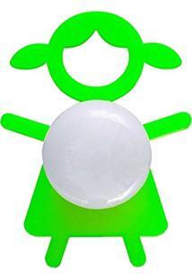 Abajur Cromalux Stickgirl Verde