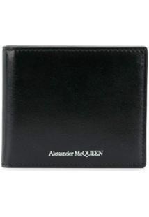 Alexander Mcqueen Carteira Dobrável Com Estampa De Logo - Preto