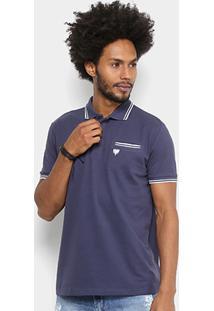 ... Camisa Polo Cavalera Ermano Masculina - Masculino-Azul Escuro 44eb7f3984941