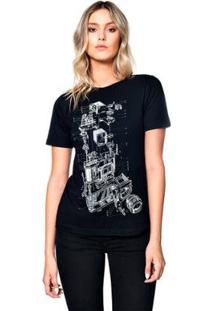 Camiseta Lomography Useliverpool Feminina - Feminino-Preto
