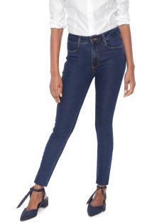 Calça Jeans Dudalina Skinny Pespontos Azul