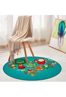 Tapete De Natal Redondo Christmas Things 94Cm - Multicolorido - Dafiti