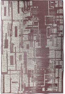 Tapete Sisllê Abstrato Iv Retangular Polipropileno (133X190) Tabaco