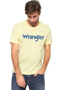 Camiseta Wrangler Estampada Amarela