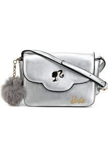 Bolsa Gash Mini Bag Barbie Feminina - Feminino-Prata